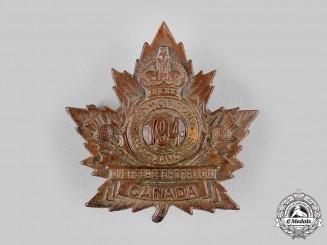 """Canada, CEF. A 194th Infantry Battalion """"Edmonton Highlanders"""" Cap Badge, by Ash bros, c.1916"""