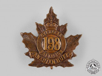 Canada, CEF. A 198th Infantry Battalion Cap Badge, by Ellis & Co.,c.1916