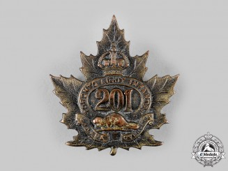 "Canada, CEF. A 201st Infantry Battalion ""Toronto Light Infantry"" Cap Badge, c.1916"