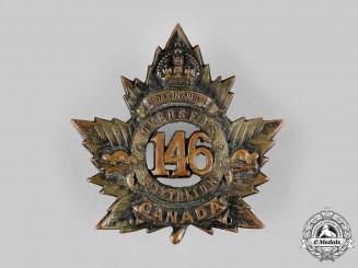Canada, CEF. A 146th Infantry Battalion Cap Badge, c.1915