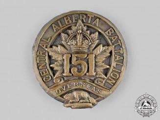 "Canada, CEF. A 151st Infantry Battalion ""151st Central Alberta Battalion"" Cap Badge, c.1915"