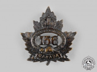 "Canada, CEF. A 156th Infantry Battalion ""156th Leeds and Grenville Battalion"" Cap Badge, c.1915"