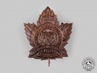 "Canada, CEF. A 158th Infantry Battalion ""Duke of Connaught's Own"" Cap Badge"