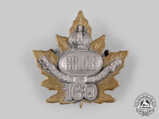 "Canada, CEF. A 160th Infantry Battalion ""Bruce Battalion"" Officer's Cap Badge, c.1915"