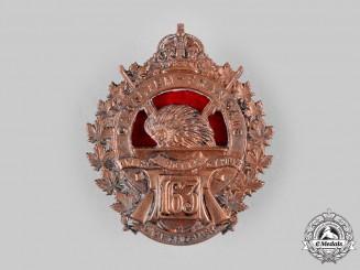 "Canada, CEF. A 163rd Infantry Battalion ""Canadiens Français"" Cap Badge, c.1916"
