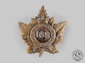 Canada, CEF. A 168th Infantry Battalion Officer's Cap Badge