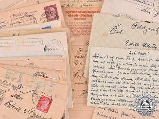 Germany, Third Reich. A Group of Second War Period Correspondence