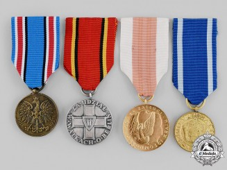 Poland, Republic, People's Republic. Four Medals & Awards