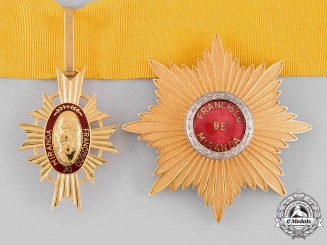 Venezuela, Republic. An Order of Francisco Miranda, Commander, by N. S. Meyer, c.1950