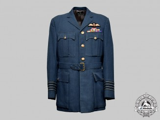 United Kingdom. The RAF Service Tunic of Wing Commander/Group Captain Edward John Holden, MBE