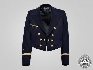 Germany, Kriegsmarine. A Leutnant zur See Blue Mess Jacket, by Heinrich Schneller