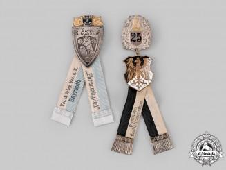 Germany, Weimar Republic. A Pair of Veterans Association Membership Badges