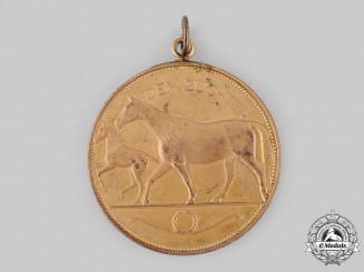 Germany, Weimar Republic. A Horse Breeding Merit Medal by Willidbald Fritsch