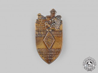 Germany, HJ. A 1933 Schloss Burg 800th Anniversary Badge
