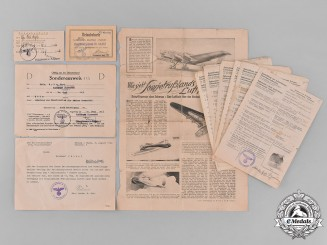 Germany, Third Reich. A Group of Various Second War Period Documents