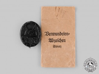 Germany, Wehrmacht. A Wound Badge, Black Grade, by Moritz Hausch