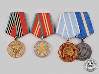 Russia, Soviet Union. Four Medals & Decorations
