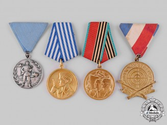 Yugoslavia, Socialist Federal Republic. Four Medals & Awards