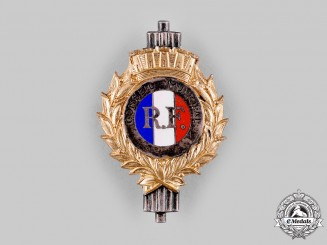France, III. Republic. A Municipal Council Badge, by Resta, Paris