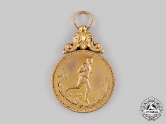 France, Third Republic. U.S.O. Olympic Games Sport Medal 1911