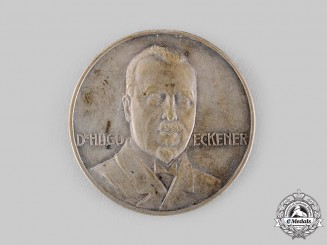 Germany, Weimar Republic. A 1924 Zeppelin LZ 126 Flight to America Commemorative Coin by L. Christian Lauer