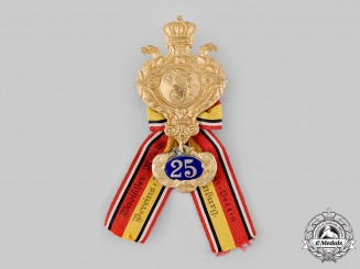 Baden, Grand Duchy. A Baden Veterans Association 25-Year Membership Badge