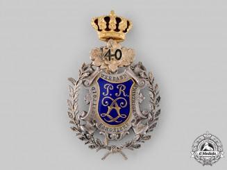 Bavaria, Kingdom. A Field Artillery Regiment Prince Regent Luitpold 40-Year Veteran's Medal