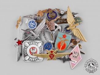 International. A Lot of Twenty-Three Pins and Badges
