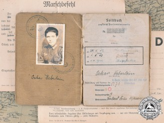 "Germany, Heer. Documents Of Oskar Heberlein, Radio Operator In Special Unit ""Brandenburg"" & Son Of Diplomat In Spain"