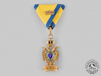 Austria, Imperial. An Order of the Iron Crown, 2nd Class Small Decoration with Lesser War Decoration (Rothe Copy)