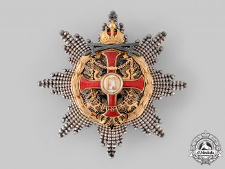 Austria, Imperial. An Order of Franz Joseph, Grand Cross Star with Lower War Decoration and Swords (Rothe Copy)