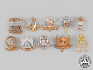 United Kingdom. A Lot of Eleven Regimental Badges