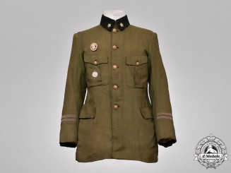 Japan, Imperial. An Army Officer's Tunic with Side Cap