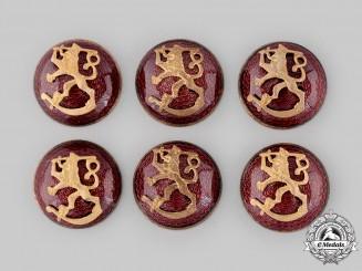 Finland, Republic. Six Army Cap Badges
