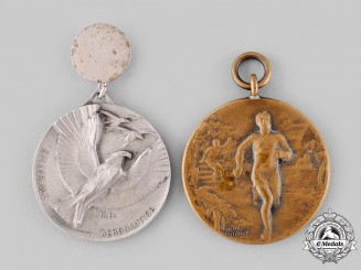 Italy, Kingdom; United Kingdom. Two Commemorative Medals