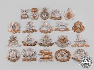 United Kingdom. Lot of Twenty Cap Badges