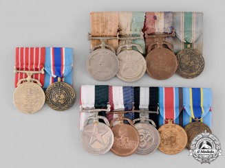 Nepal, Federal Democratic Republic. Three Groups of Medals