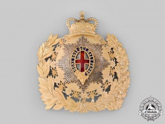United Kingdom. A Life Guards Officer's Full Dress St. Edward Crown Helmet Plate