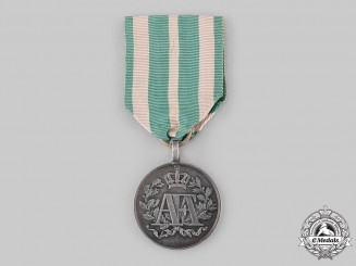 Saxony, Kingdom. A 15-Year Long Service Medal in Silver
