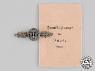 Germany, Luftwaffe. A Short Range Day Fighter Clasp, Bronze Grade, by G.H. Osang, with Envelope