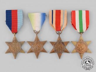 United Kingdom. Four Campaign Service Stars