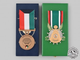 Kuwait, State; Saudi Arabia, Kingdom. Two Kuwait Liberation Commemorative Medals 1991