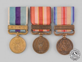 Japan, Empire. Three War Medals & Awards