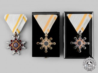 Japan, Empire. An Order of the Sacred Treasure, V, VII and VIII Classes