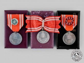 Japan, Empire. Three Japanese Red Cross Society Medals