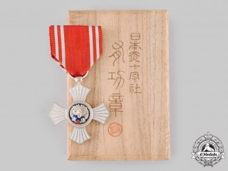 Japan, Empire. A Red Cross Society, Silver Merit Medal