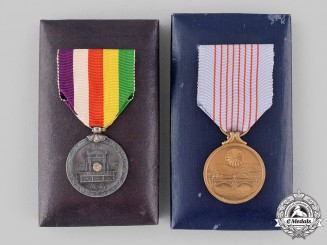 Japan, Empire. Two Commemorative Medals