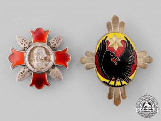 Japan, Empire. Two Badges & Insiginia