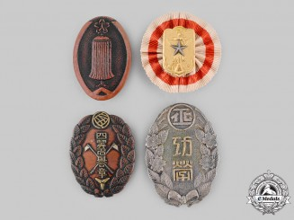 Japan, Empire. A Lot of Four Badges & Insignia