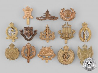 United Kingdom. A Lot of Thirteen Regimental Badges